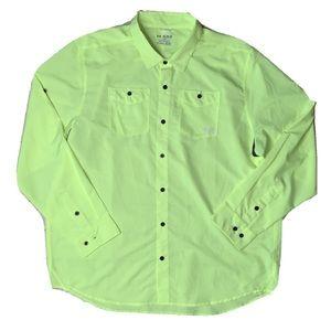 Under Armour HeatGear Neon Yellow Golf Fish Shirt